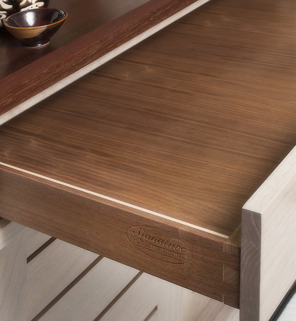 Custom Walnut Drawer