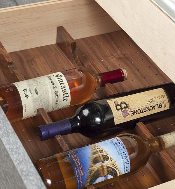 Pegboard Organizer With Wine Cradles